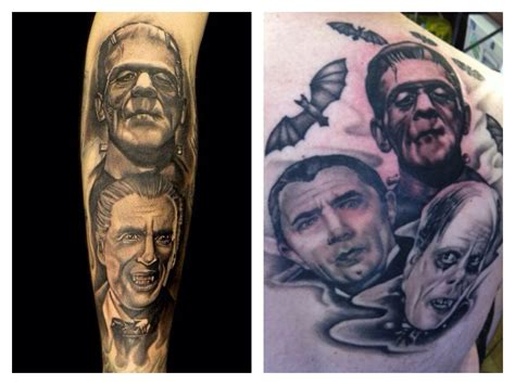 universal tattoo universal monsters horror tatties
