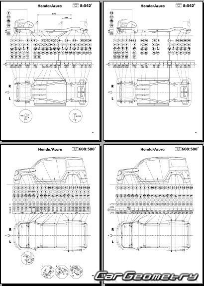 auto repair manual online 2003 honda element seat position control геометрические размеры honda element 2003 2011 body repair manual