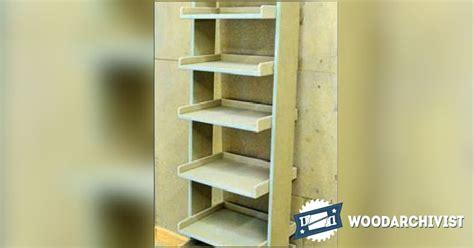 ladder shelving unit plans woodarchivist