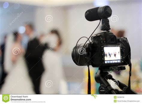 Wedding videography stock photo. Image of microphone