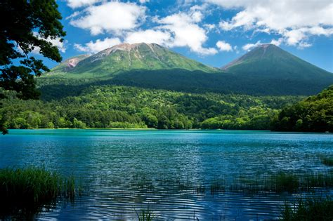 imagenes de hokkaido japon scenery lake mountains forests nature wallpaper
