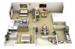 Two Bedroom Plan Design 50 3d Floor Plans Lay Out Designs For 2 Bedroom House Or