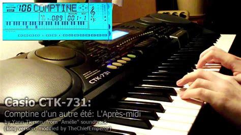 Keyboard Casio Ctk 731 Baru casio ctk 731 comptine d un autre 233 t 233 l apr 232 s midi