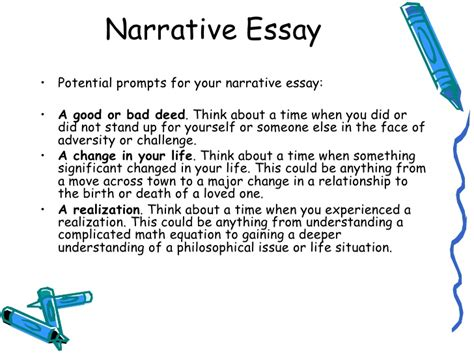 Narrative Essay Assignment by Lecture 6 Narrative Essay