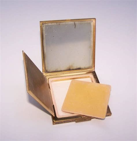 Gucci Behel Canvas 9955 C 1950 Zell Mirrored Powder Compact With Enamel