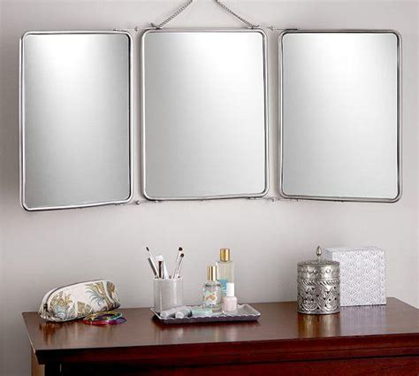 tri fold bathroom mirror vintage tri fold wall hung mirror