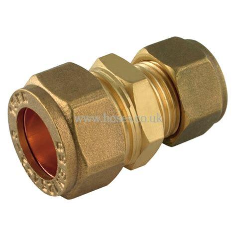 Plumbing Compression Fitting by Reducing Coupling Metric Brass Plumbing
