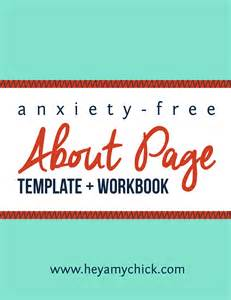 Workbook Template by Anxiety Free About Page Template And Workbook