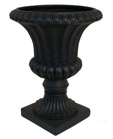 black urn planter patio plans