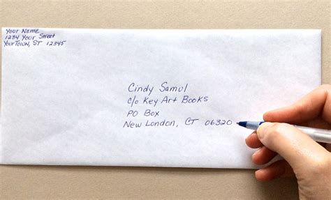 8 where to write address in courier agenda example