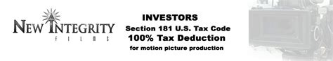 Mba Tax Deduction Usa by Section 181 100 Tax Deduction For Motion Pictures In