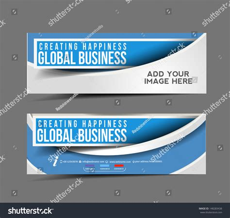 Set Modern Global Business Design Banner Stock Vector 148283438 Shutterstock Z Banner Template