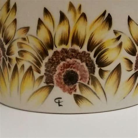 girasoli in vaso vaso girasoli 3 ceramichedipinteamano cianaludo