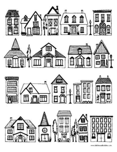 row house coloring pages houses coloring page dabbles babbles