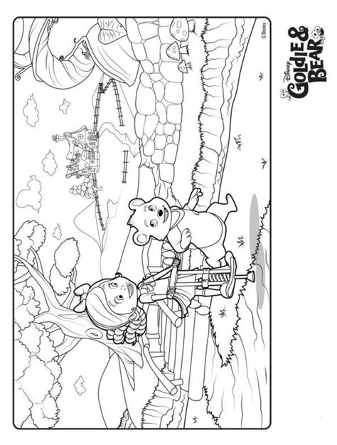 goldie bear coloring pages kids n fun com new coloring pages