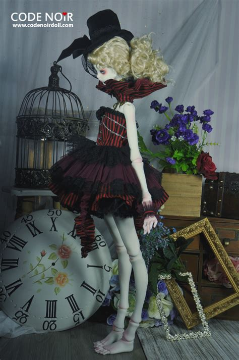 design doll code code noir x doll chateau agnes lady in red bjd000037