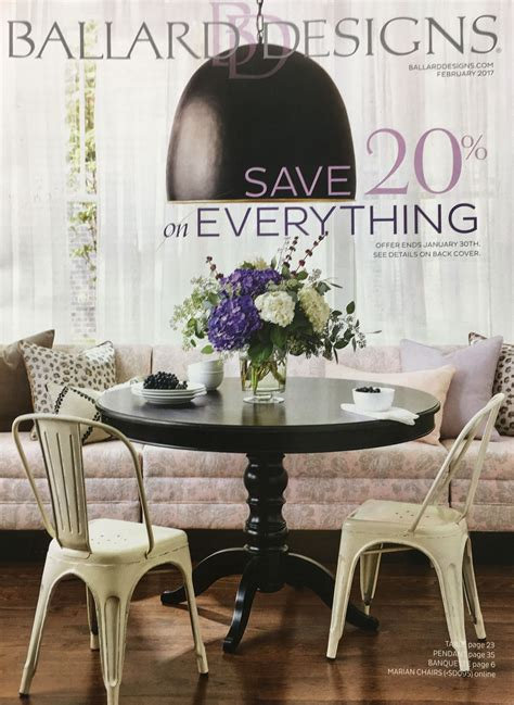 Coupons For Ballard Designs free mail order furniture catalogs