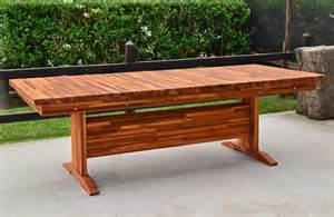 Redwood Patio Table Outdoor Redwood Dining Table Custom Made To Order Tables