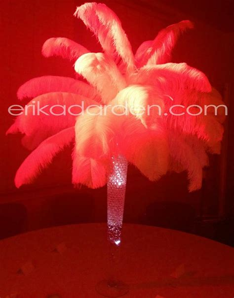 pictures for rent ostrich feather centerpieces wedding