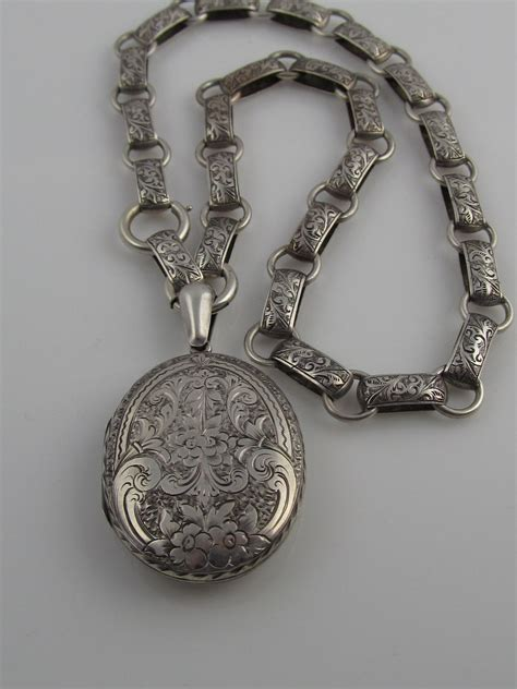 Take Photos With This Vintage Locket by Engraved Sterling Silver Locket With