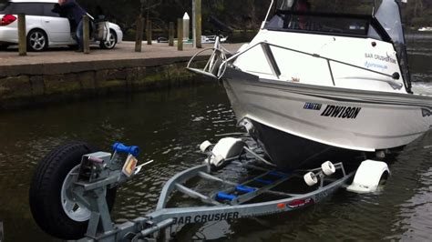 how to launch and retrieve a boat bar crusher with launch and retrieve boat latch