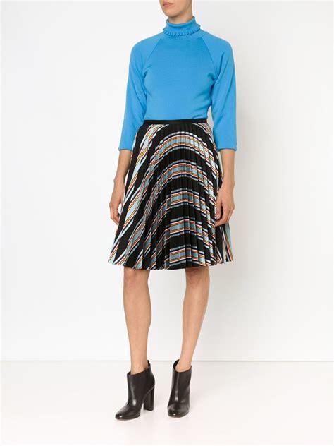 wwwskortmancom mens skirts pleated skirts for men lyst j w anderson striped pleated skirt in black for men