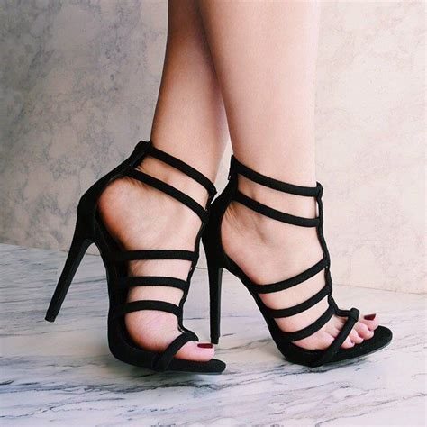 High Heels Murah High Heel Heels Formal Pesta Putih Garis high heels shop high heel sandaletten g nstige high heel sandaletten im high heel