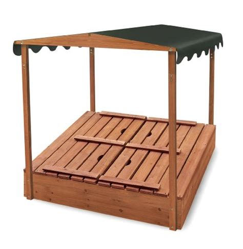 sandbox with bench new badger basket covered convertible cedar sandbox with canopy two bench seats ebay