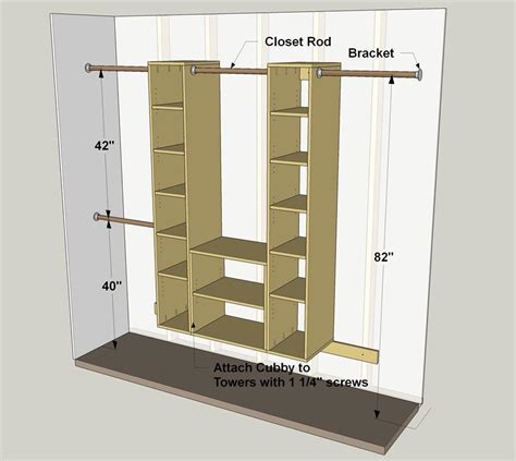 Standard Height For Closet Shelf And Pole by Modular Closet Organizer Buildsomething