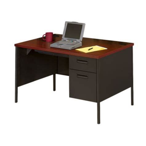 48 x 30 desk single pedestal desk 48 x 30 quot by hon officefurniture com