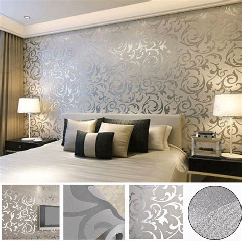 wallpaper for grey room 25 best ideas about silver wallpaper on pinterest room