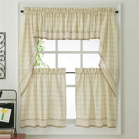 modern tier curtains wonderful interior swag curtains for kitchen remodel with