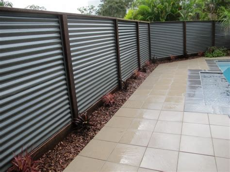 long lasting corrugated metal privacy fence fence ideas fence ideas