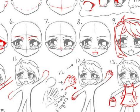 tutorial menggambar chibi anime useful chibi style anime drawing tutorials ninja crunch