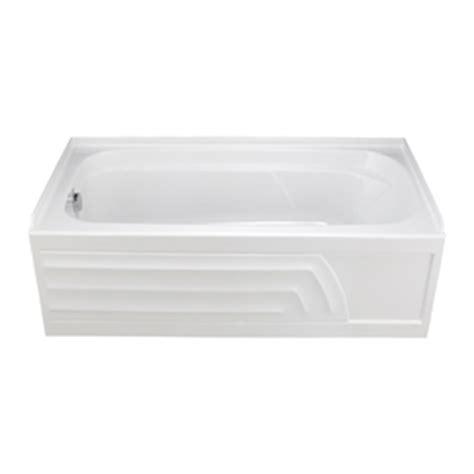 Porcelain Enameled Steel Bathtub by Shop American Standard Stratford Bone Porcelain Enameled Steel Rectangular Drop In Bathtub With