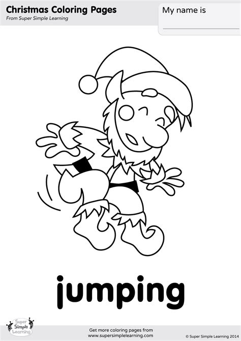 coloring page action words jumping coloring page super simple