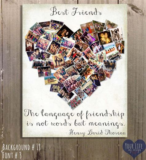 Handmade Photo Collage Ideas - gift for best friends photo collage gift for by