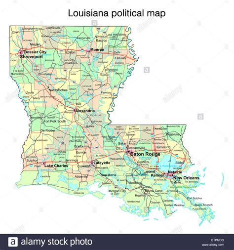 louisiana state political map stock photo royalty