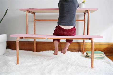pipe desk diy copper pipe child s desk diy a beautiful mess