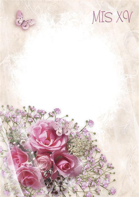 imagenes de flores para xv años marcos gratis para fotos marcos de xv a 209 os png 15 a 241 os
