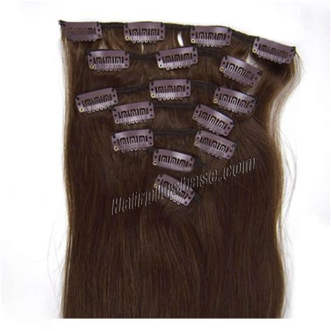 remy hair extensions clip in 18 inch 4 medium brown clip in remy human hair extensions