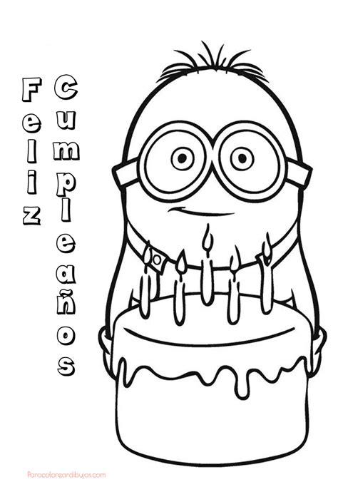 imagenes bonitas para dibujar de cumpleaños 60 im 225 genes de feliz cumplea 241 os para colorear colorear