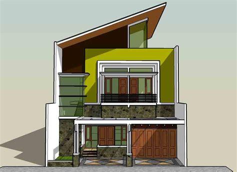gambar sketsa rumah kecil mungil rumah minimalis