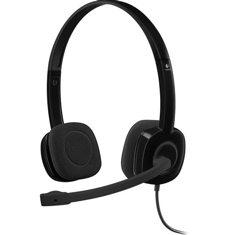Logitech Stereo Headset H 151 logitech h151 stereo headset 981000587 b h photo
