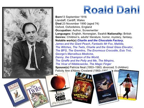 roald dahl biography for students television a poem by roald dahl