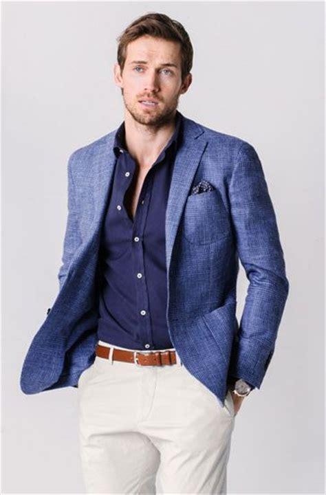 de moda blazer azul marino camisa de vestir blanca pantalon de sport coat and blazer wearing trends 2016