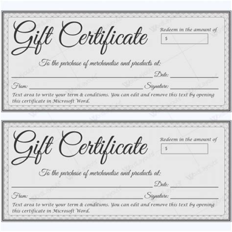 Gift Certificate Templates Make Gift Certificate In 3 Steps Fill In Gift Certificate Template