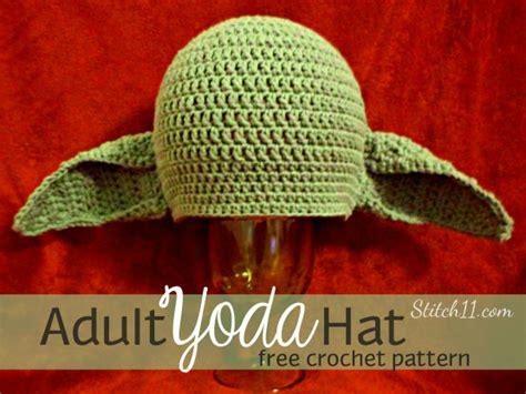 crochet pattern yoda ears adult yoda hat