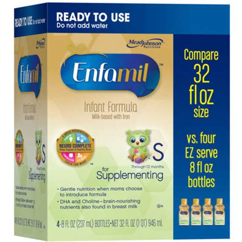 supplementing w formula enfamil for supplementing ready to use 8 fl oz 4