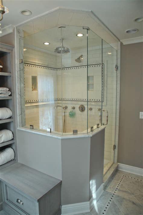 custom vanity  shower area  unique tile pattern